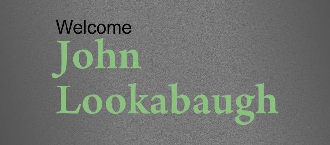 Guest Speaker John Lookabaugh